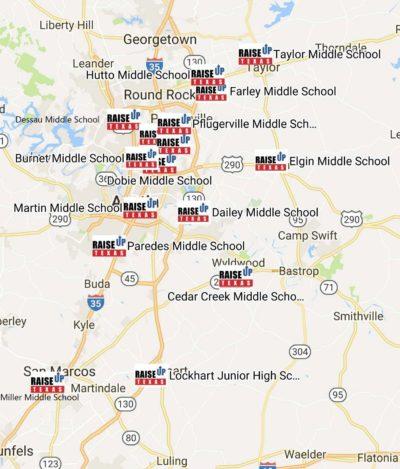 Map Of Texas High Schools.Central Texas Expansion Raiseup Texas